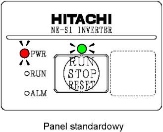 Panel standardowy falownika Hitachi NE-S1